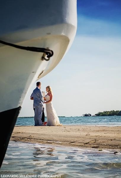 Ambergris Caye sandbar wedding. Belize wedding photography by Leonardo Melendez Photography.