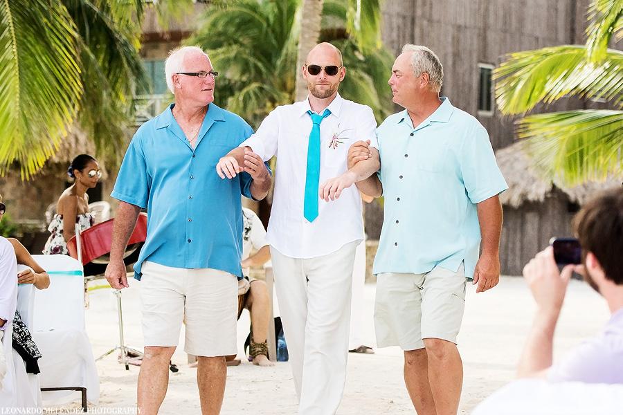 Belize wedding, Captain Morgan's Resort, Ambergris Caye.  Belize wedding photographer, Leonardo Melendez.