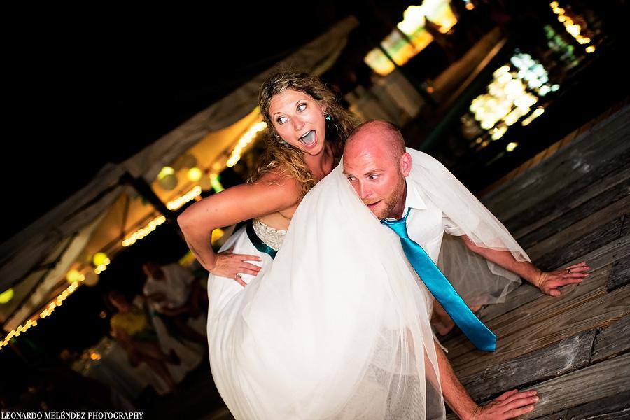 Captain Morgan's Belize wedding.