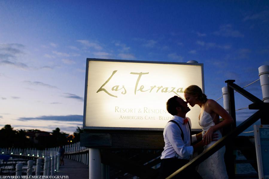Las Terrazas Resort wedding.  Belize wedding photography by Leonardo Melendez Photography.