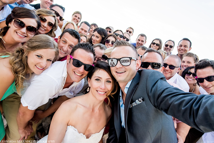Group fun at Victoria House wedding.  Photo by Leonardo Melendez Photography.