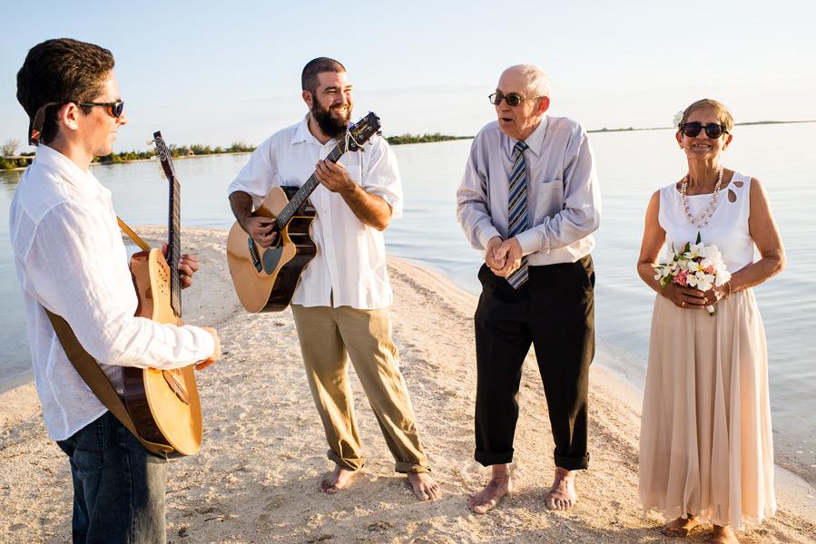 belize beach wedding at Sandbar