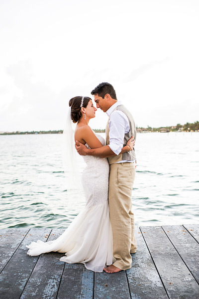 Cococ Beach Wedding Belize Bre and Wes