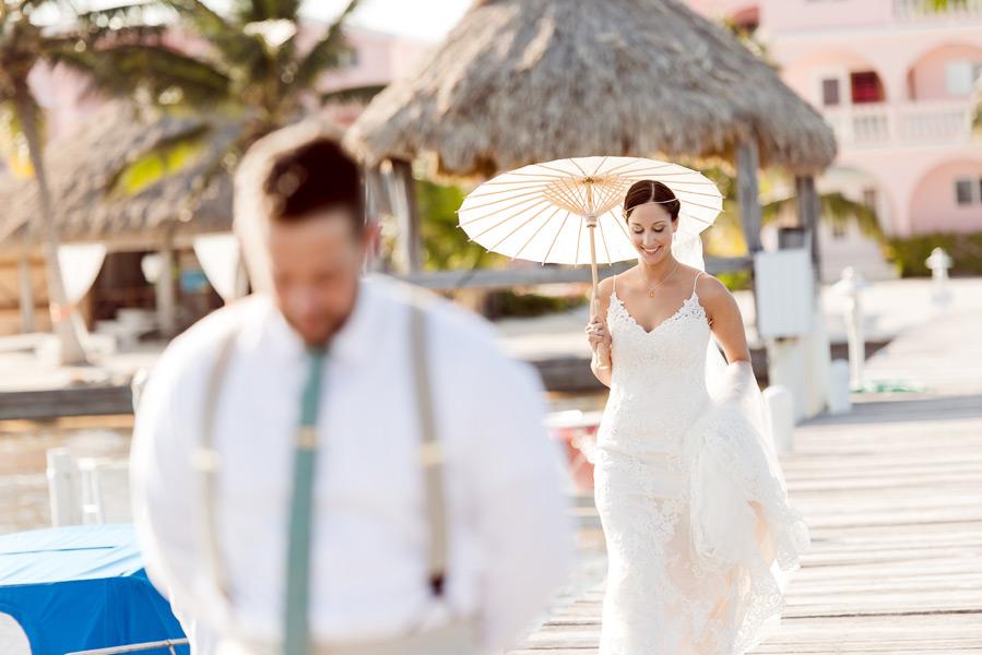 Ambergris Caye beach wedding at Caribe Island Condos. Belize wedding photographers, Leonardo Melendez Photography.