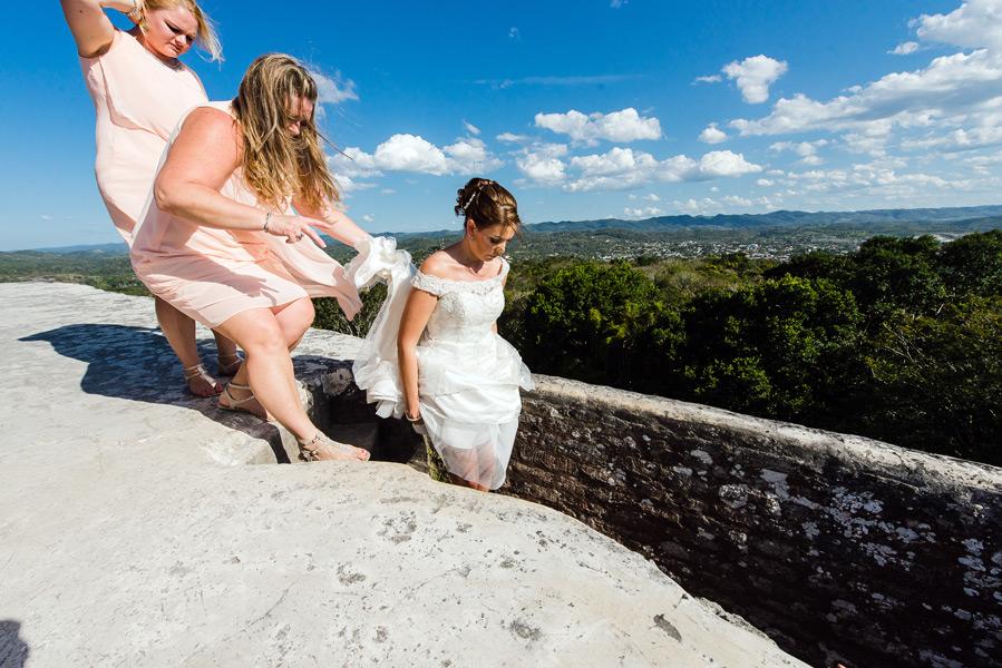 Belize weddings Xunantunich Mayan Ruins